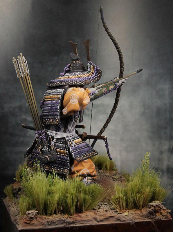 """""""Samurai Archer"""" PEGASO 90mm scale. By Bailey. #Japan  - planet Figure"""