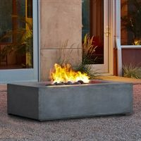 T9650NG-GLG Baltic Rectangular Natural Gas Fire Table in Glacier Gray