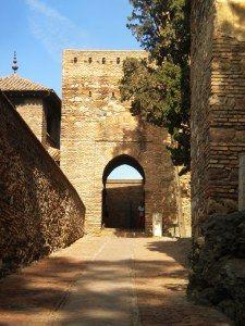 malaga: alcazaba
