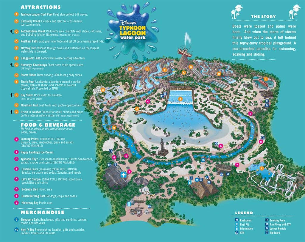 I always loved park maps 3 map of typhoon lagoon i always loved park maps 3 map of typhoon lagoon water park walt disney world fl gumiabroncs Gallery