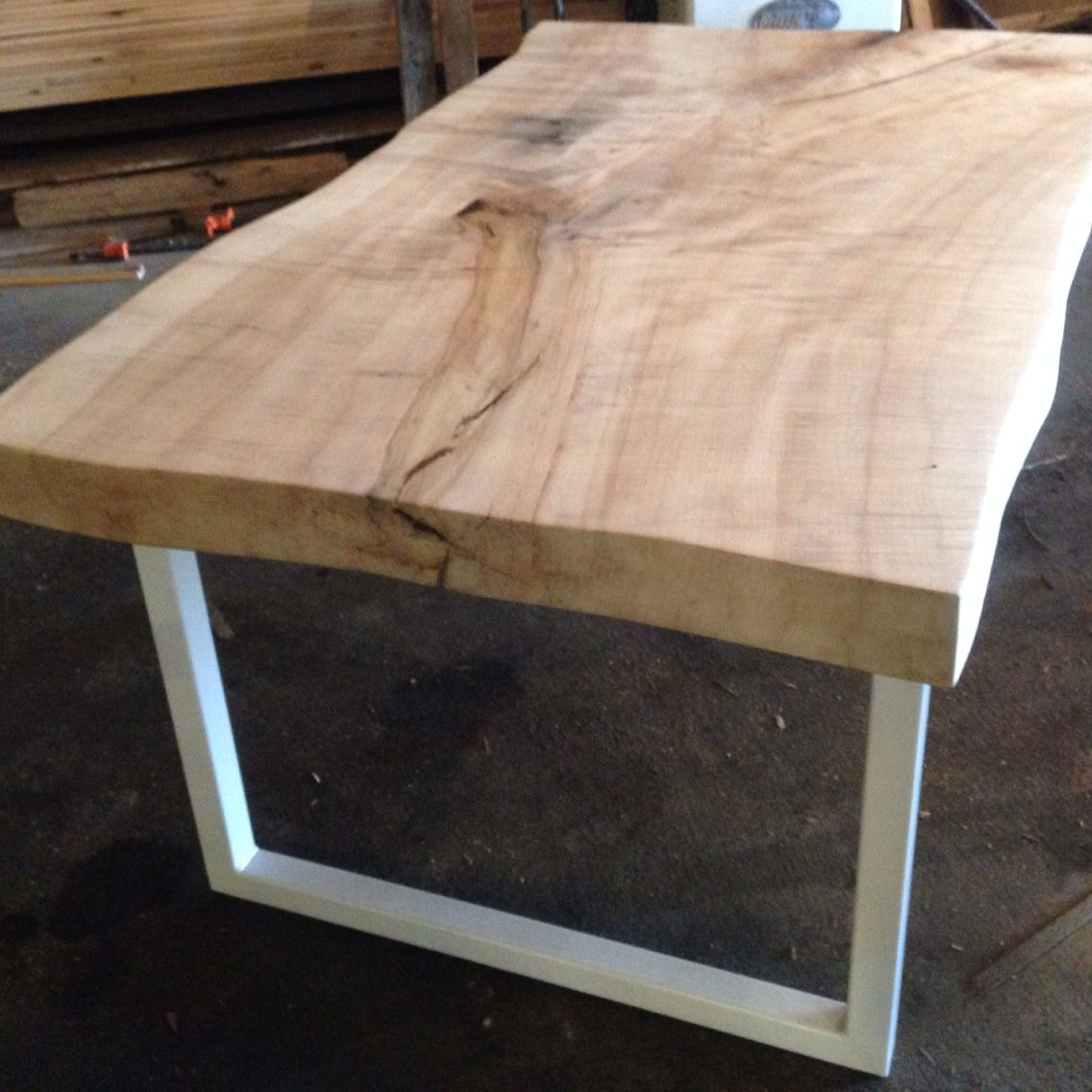 Silver Maple Live Edge Wood Slab Table Liveedge Woodslab