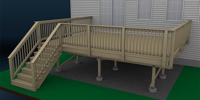 How To Build A Deck Wood Decking And Deck Railings Lowes Deck