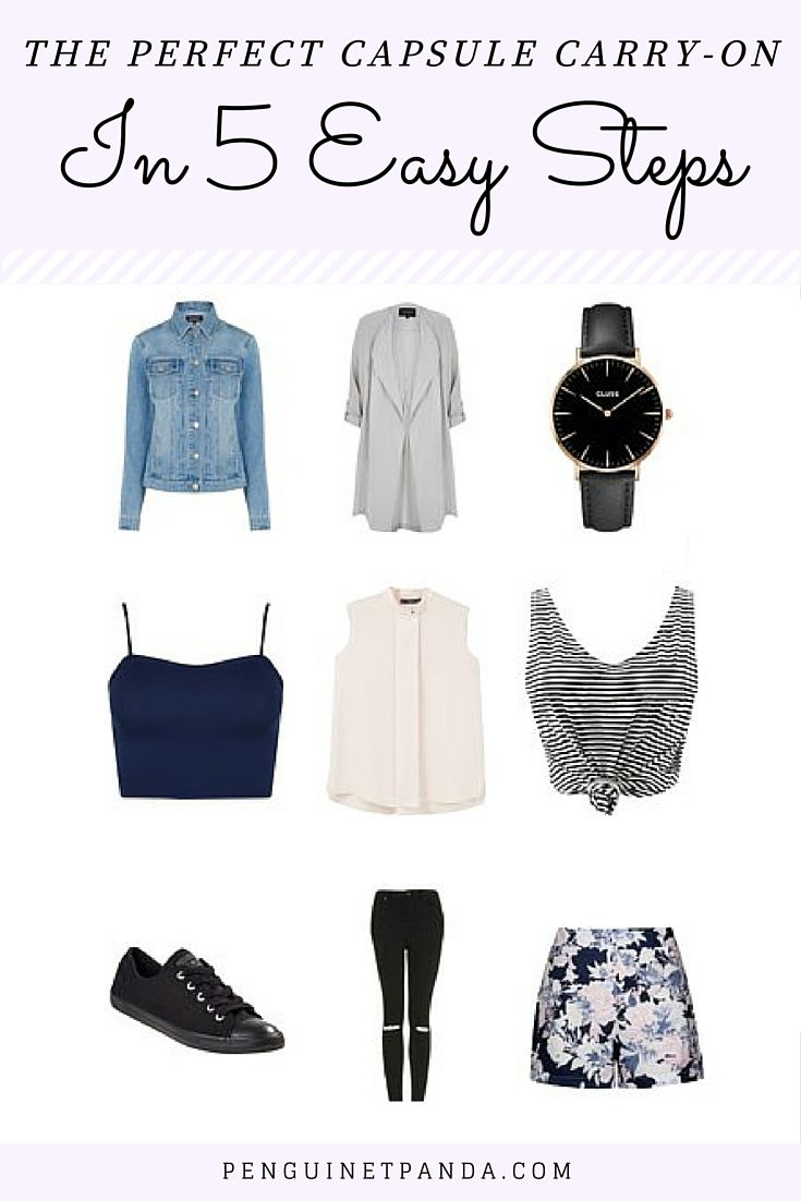 Super Easy Capsule Wardrobe You Can Fit In Your Carry-on