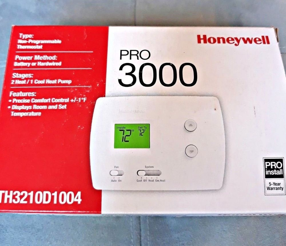 Honeywell Pro 3000 Non Programmable Thermostat Th3210d1004 White Open Box New Honeywell Digital Thermostat Honeywell Programmable Thermostat