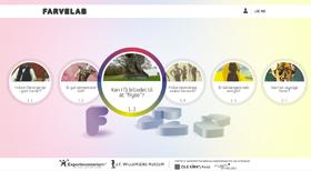 eksperimenter med farver på nettet - lavet til børn - Farvelab