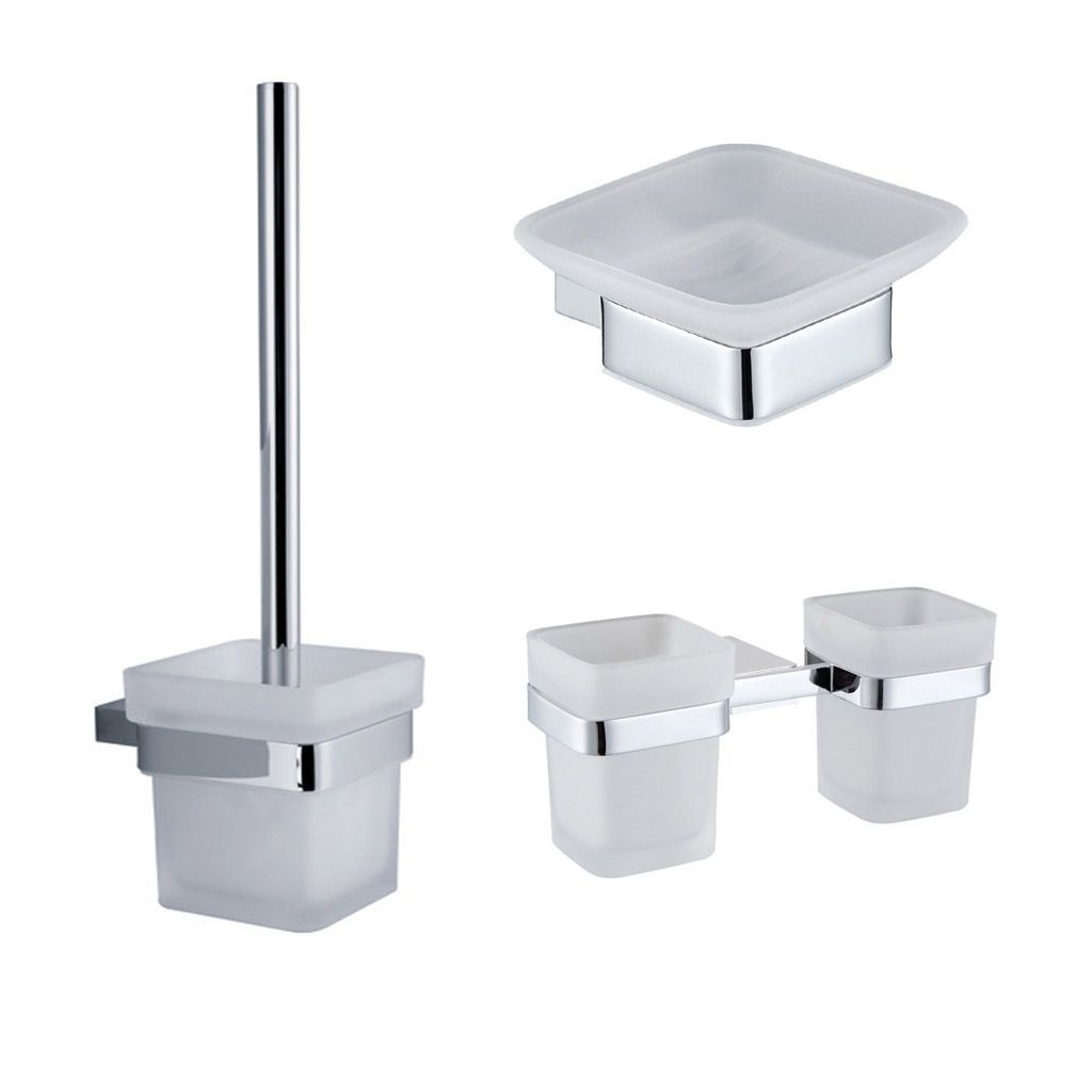 Bathroom Accessories Brass Set Double Tumbler Soap Dish Toilet Brush ...