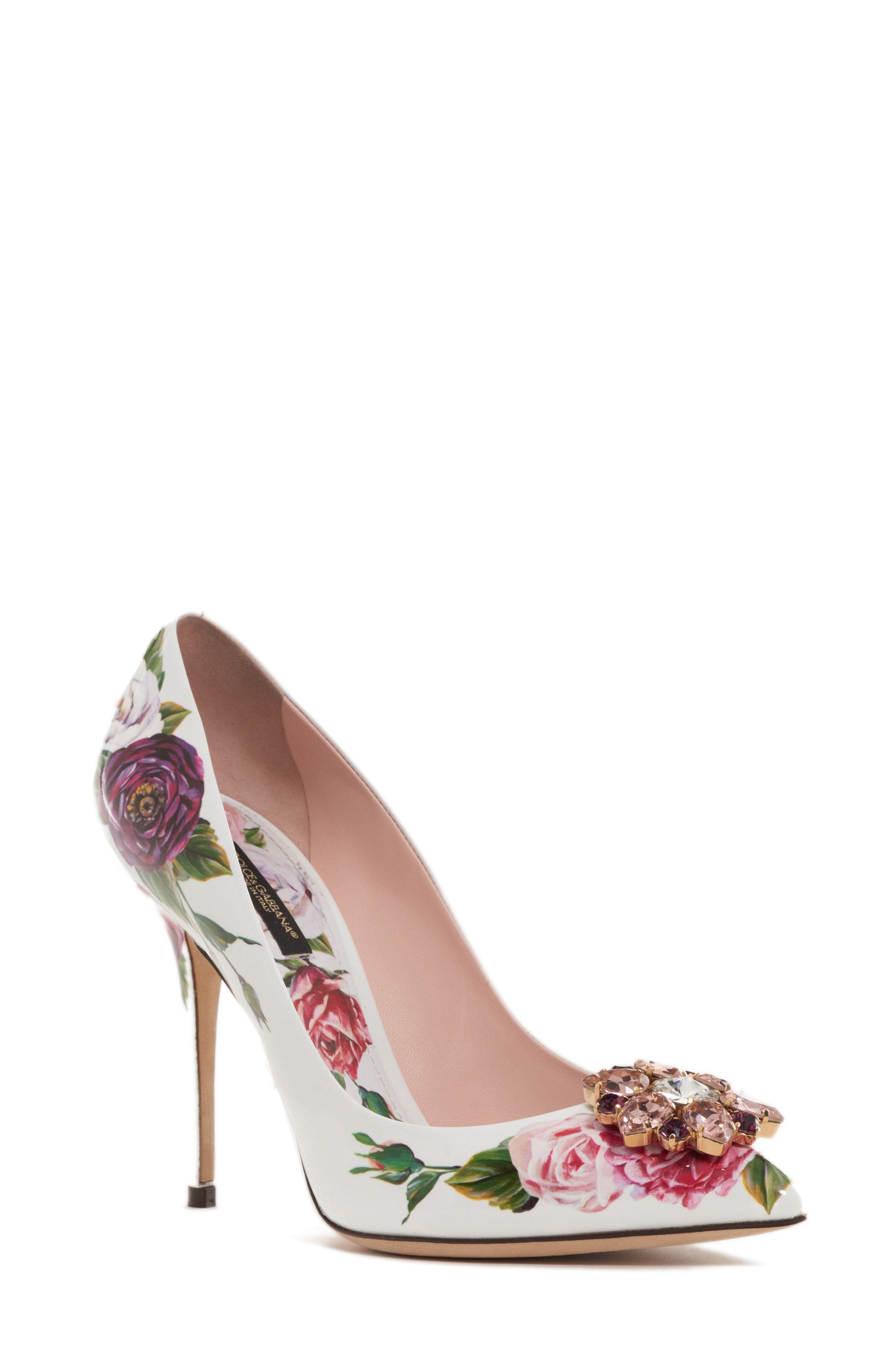 Dolce & Gabbana Bellucci Decollete 'Con Peonia Print En