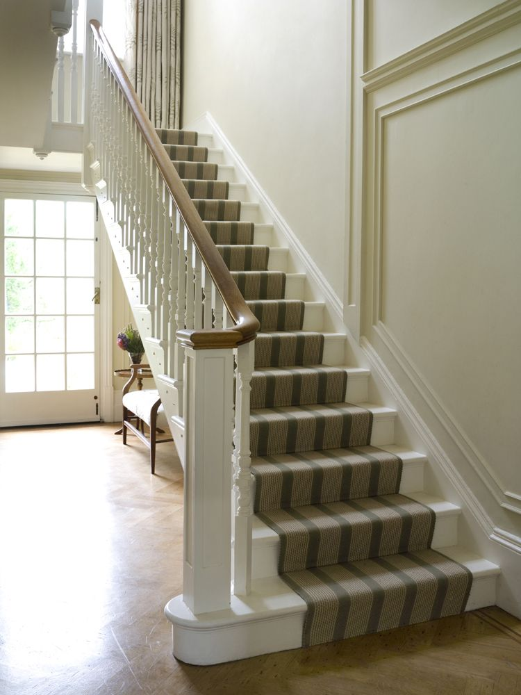 Traditional stair runner in a victorian country house for Georgian staircase design