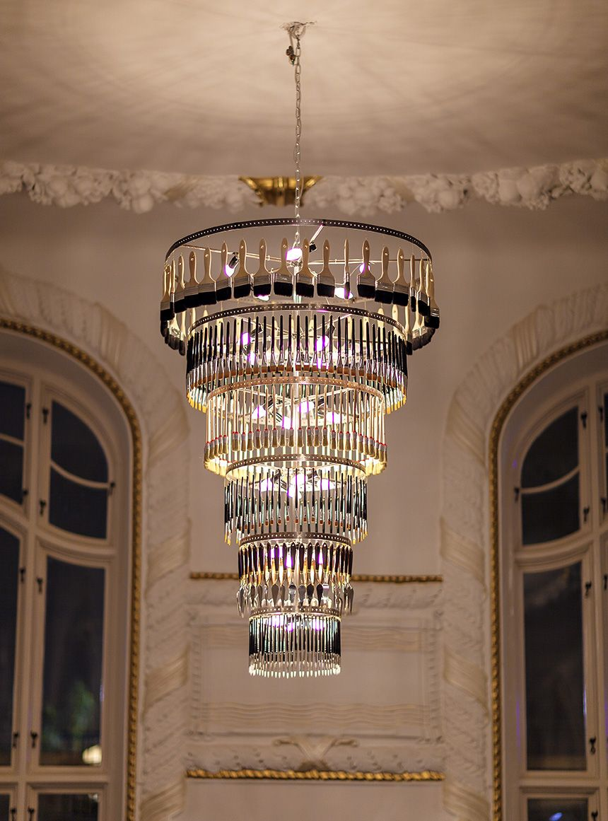 Custom made chandelier at restaurant palace gothenburg sweden custom made chandelier at restaurant palace gothenburg sweden oscar matsson aloadofball Choice Image