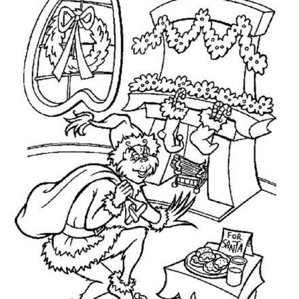 Grinch Coloring Page Video Taken