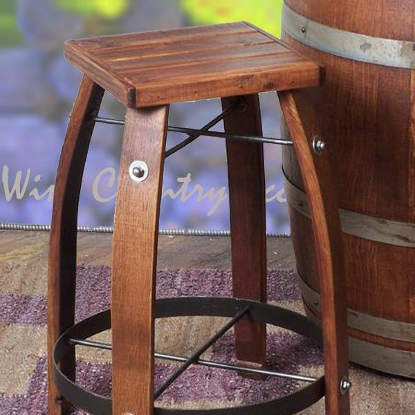 Wine Barrel Bar Stools With Wood Tops 2 Day Designs Wv818
