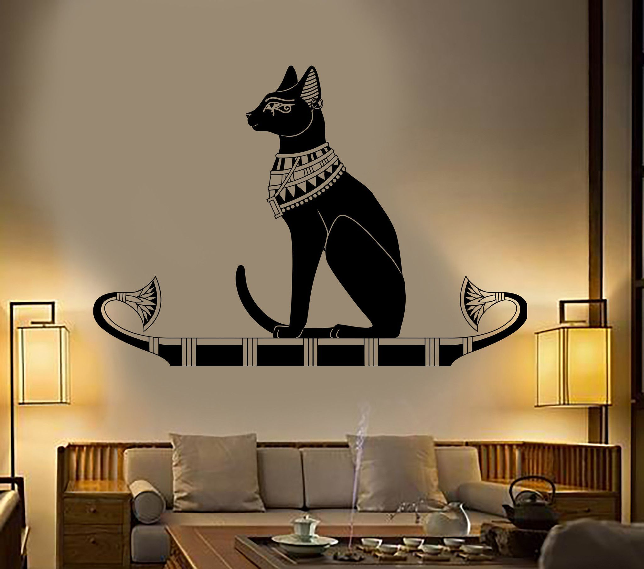 Vinyl wall decal ancient egypt egyptian cat god bastet stickers vinyl wall decal ancient egypt egyptian cat god bastet stickers unique gift 384ig amipublicfo Gallery