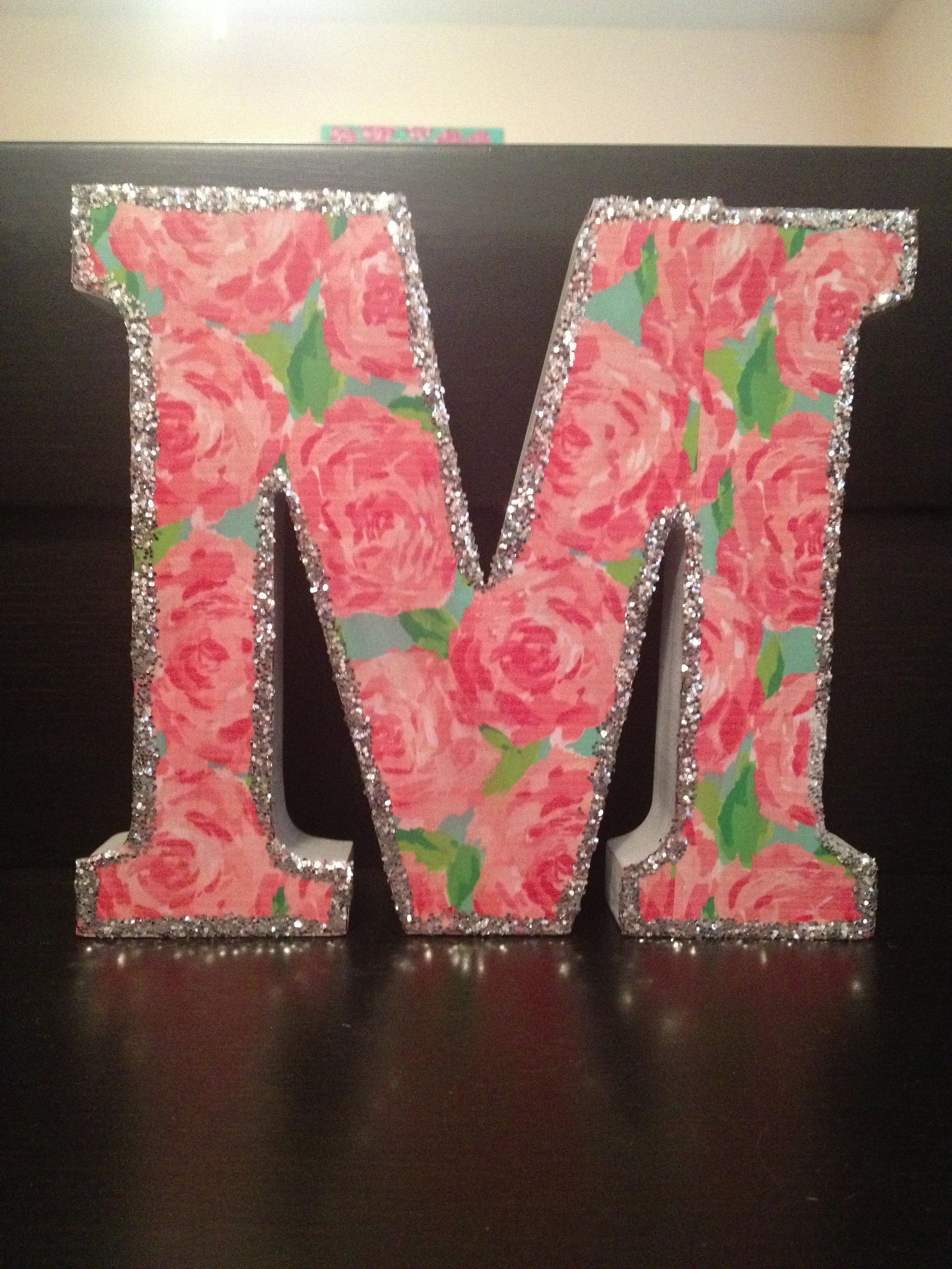 Diy Lilly Pulitzer Letter Just Grab A Large From Hobby