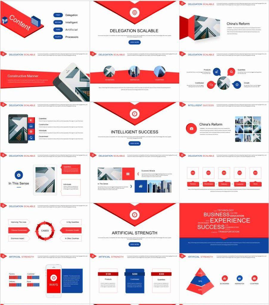 27+ Best Red Business Plan PowerPoint template Slides de