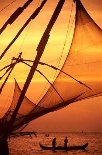 Fishing Boat And Fishing Nets With Images Kerala India Kerala India Travel