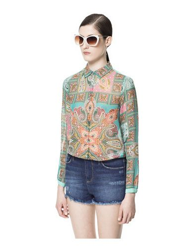 e835fe19f176e8 SCARF-PRINT BLOUSE- ZARA. Find this Pin and more on Things I love ...