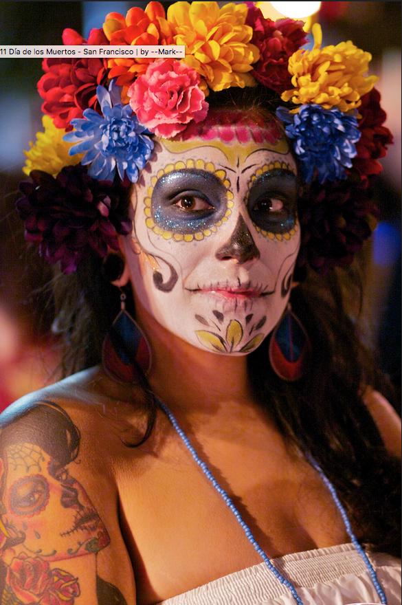 Day of the Dead San Francisco, CA Sugar skull girl