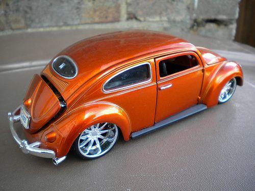 Jada Roof Chopped Vw Beetle Oval Window Metallic Orange A Photo