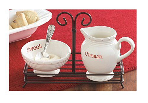 Mud Pie Holiday Circa Style Collection Cream and Sugar 4 Piece Set - 4781002 Mud Pie http://www.amazon.com/dp/B00P0K5FCS/ref=cm_sw_r_pi_dp_h5QIwb09X42AJ