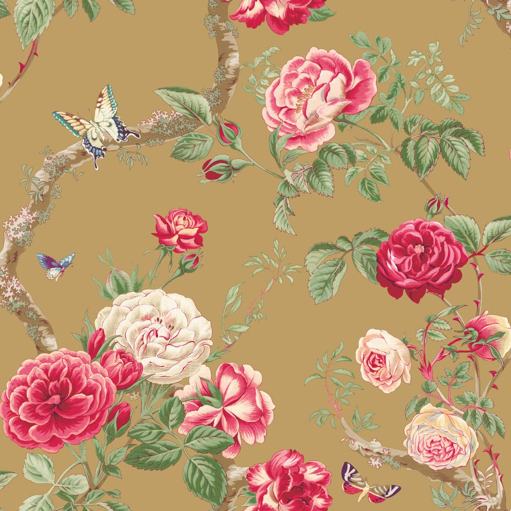 Butterfly Floral Sidewall, Home Décor