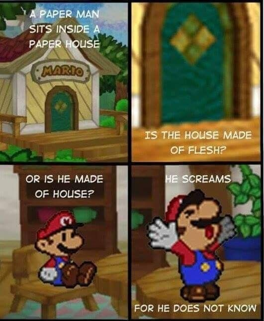 Existential Crisis Mario Funny Super Mario Memes Mario Comics