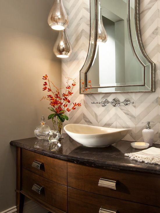 Bathroom Design Cool White Transitional Powder Room Sinks Also Classic Faucet And Mixer Tap And Elegant Powder Room Lighting Powder Room Decor Bathroom Design