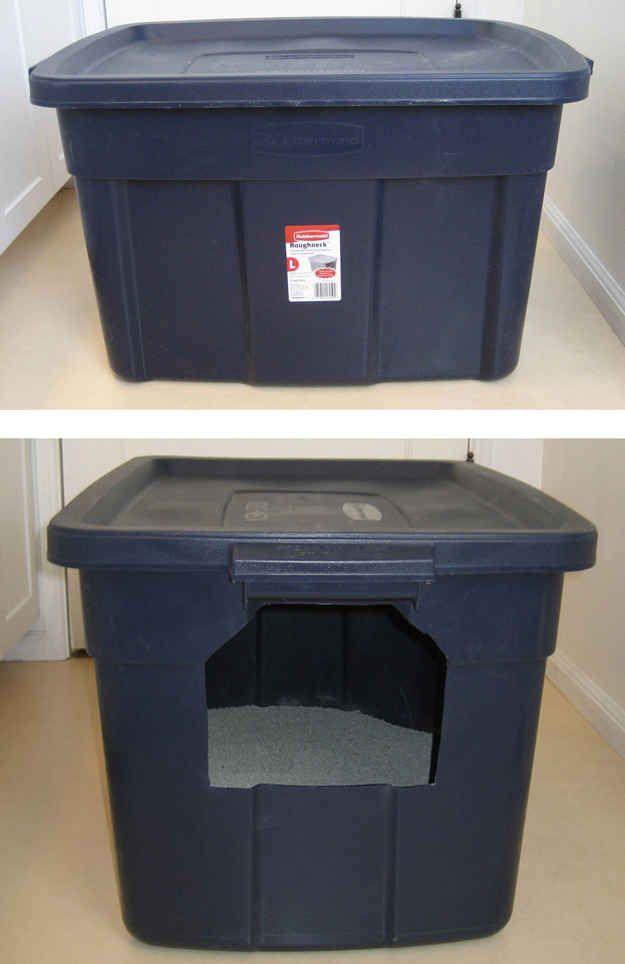 27 Useful DIY Solutions For Hiding The Litter Box Litter