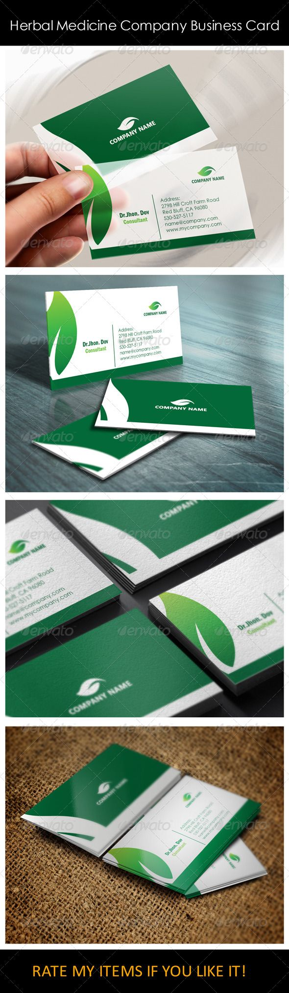 Herbal Medicine Company Business Card Templates Herbal Medicine