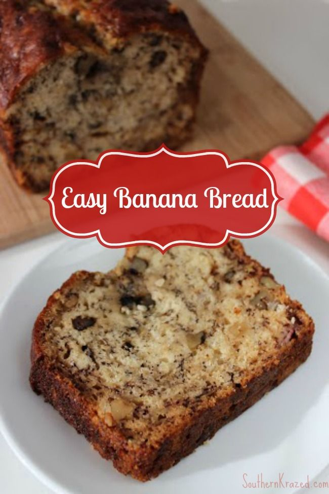 How to make banana bread with few ingredients