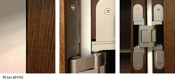 Tectus te 541 3d fvz closed to open views hardware - Hidden hinges for exterior doors ...