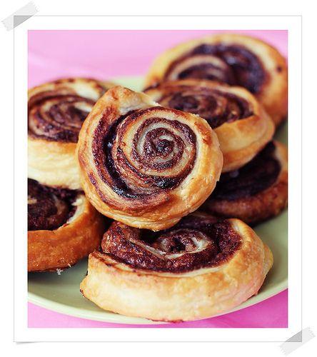 Espirales de Hojaldre con Chocolate
