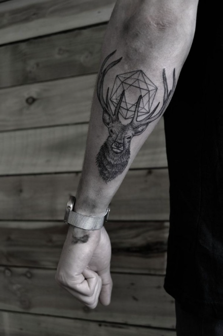 tattoo #deer | tattoo ideas | pinterest | tatouage, cerf tatouage
