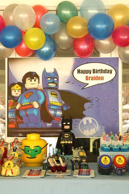 Lego SuperHero Party Birthday Party Ideas | Epic party, Legos and ...