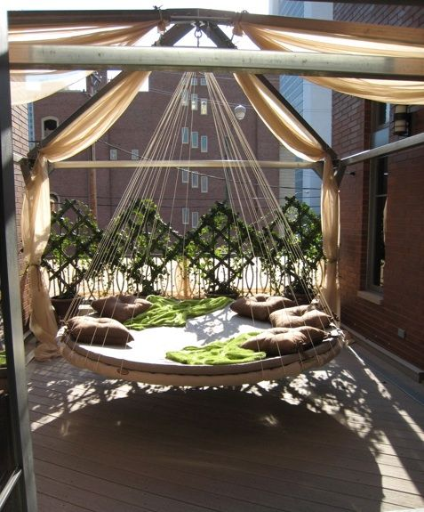Outdoor Cabana For Hanging A Floating Bed Outdoor Hanging Bed