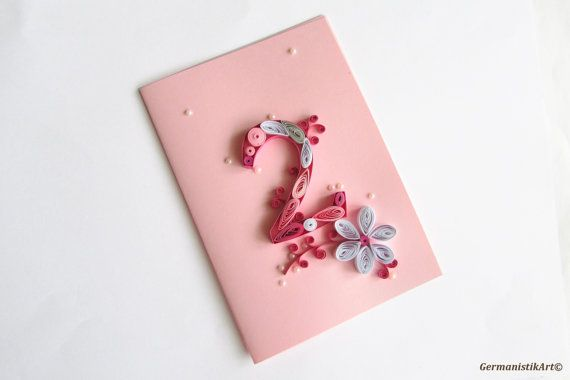 Blank Birthday Card For 2 Years Old Girl 2nd By GermanistikArt
