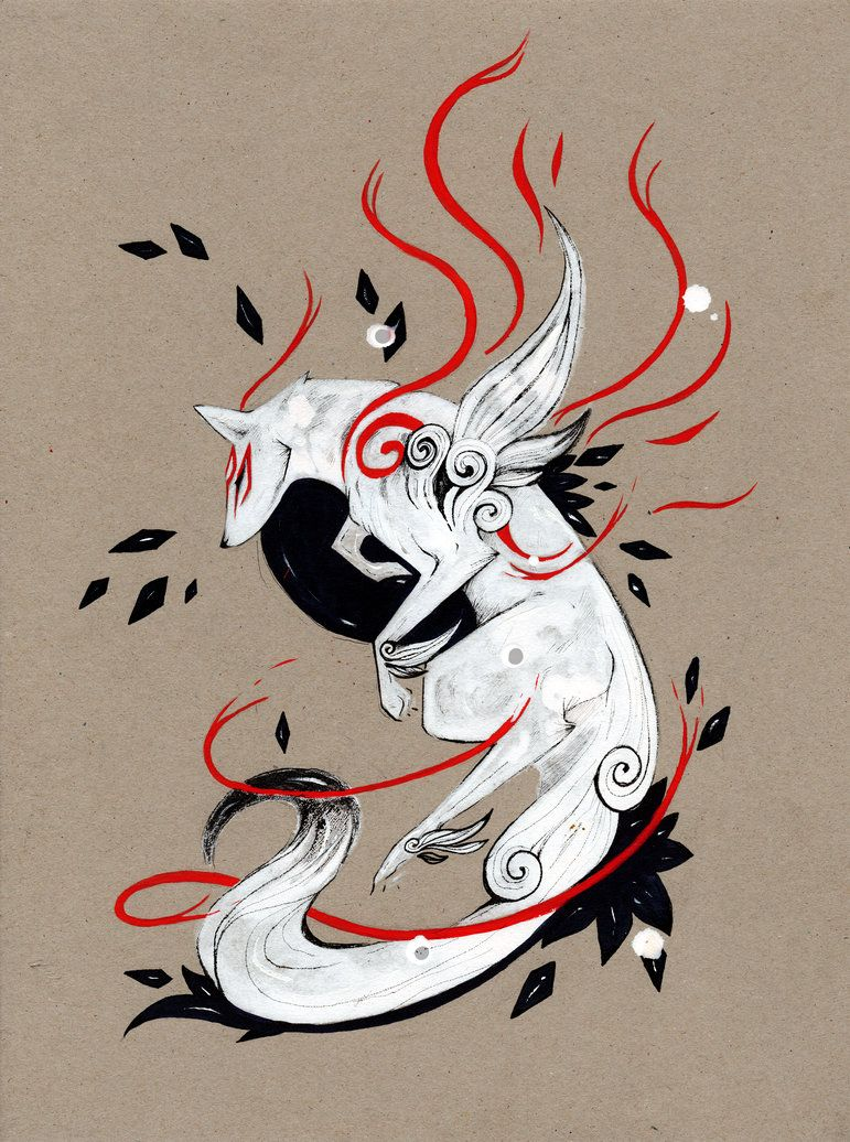 Amaterasu Ookami Okami Videogame Playstation Whitewolf Wolf