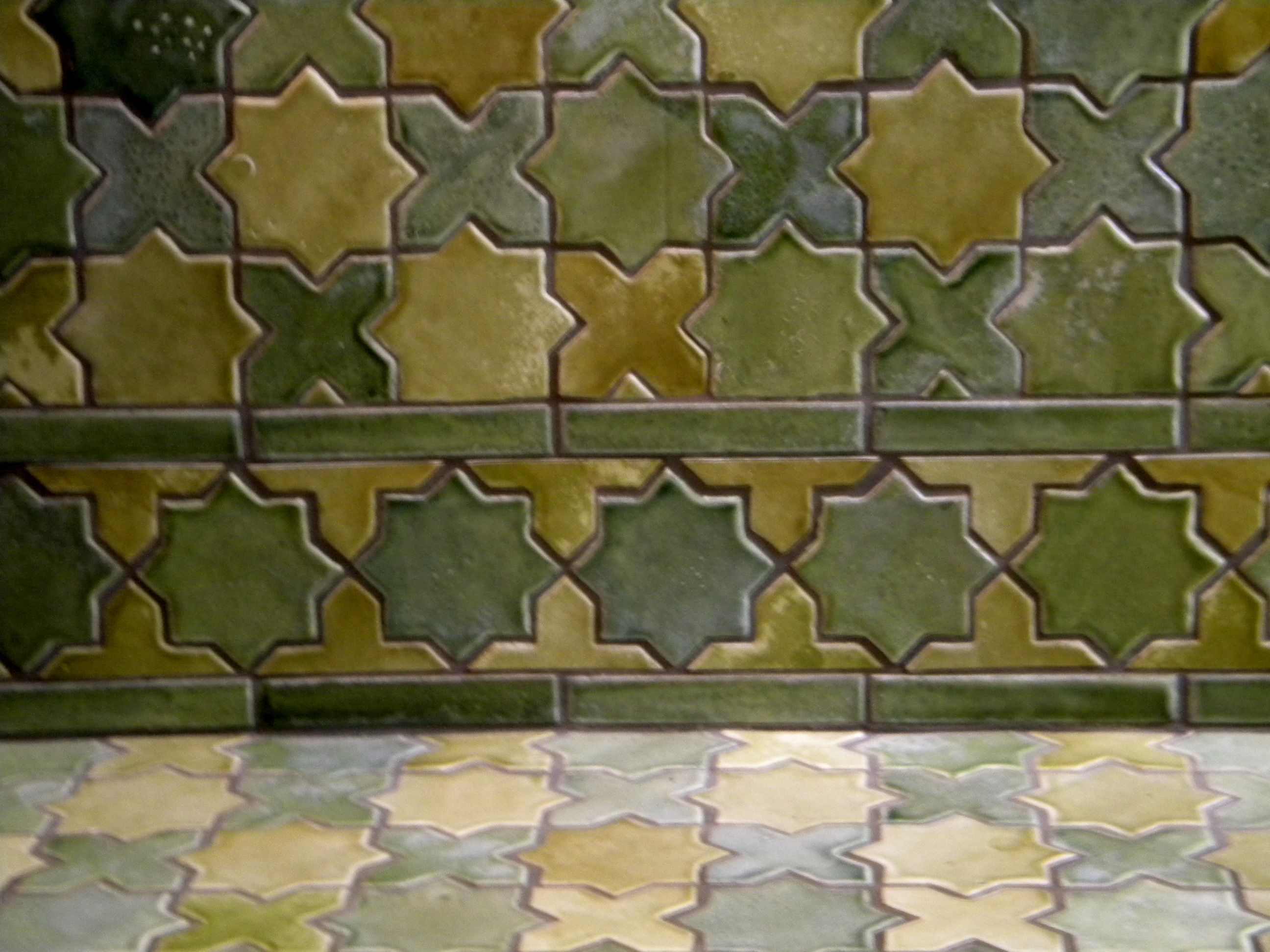 Star And Cross Lascaux Tile Arabesque Tile Backsplash