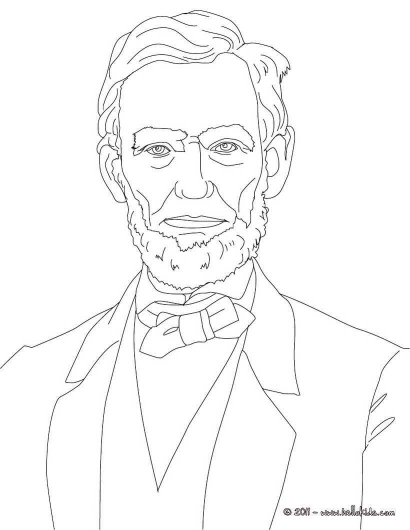 Presidents Of The United States President Abraham Lincoln Fathers Day Coloring Page American Flag Coloring Page Football Coloring Pages