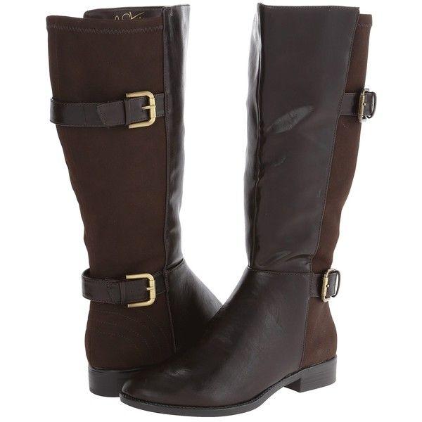 LifeStride Rockin (Wideshaft) (Dark Brown Linz/Suedy) Women's Boots ($40