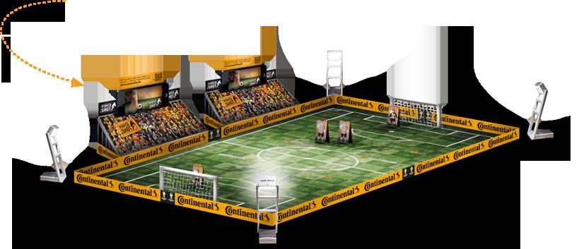 Geiles Miniaturstadion mit original TIPP-KICK Flutlichmasten! #PaperShot