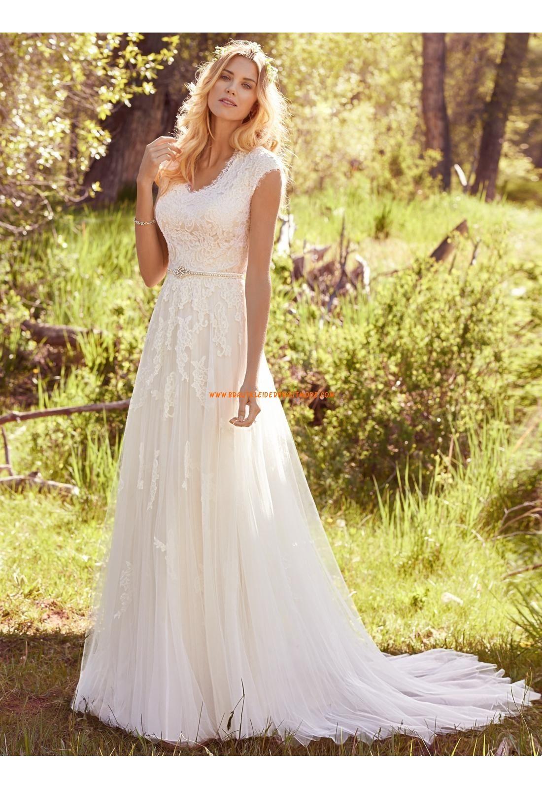 A-linie Glamouröse Schöne Brautkleider aus Tüll mit Applikation ...