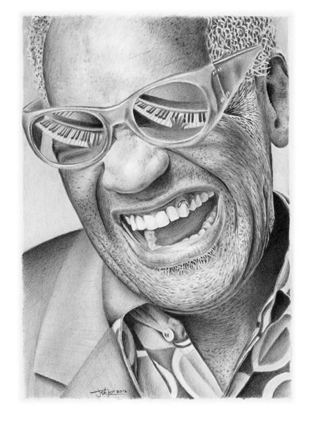 ray charles this is pencil art