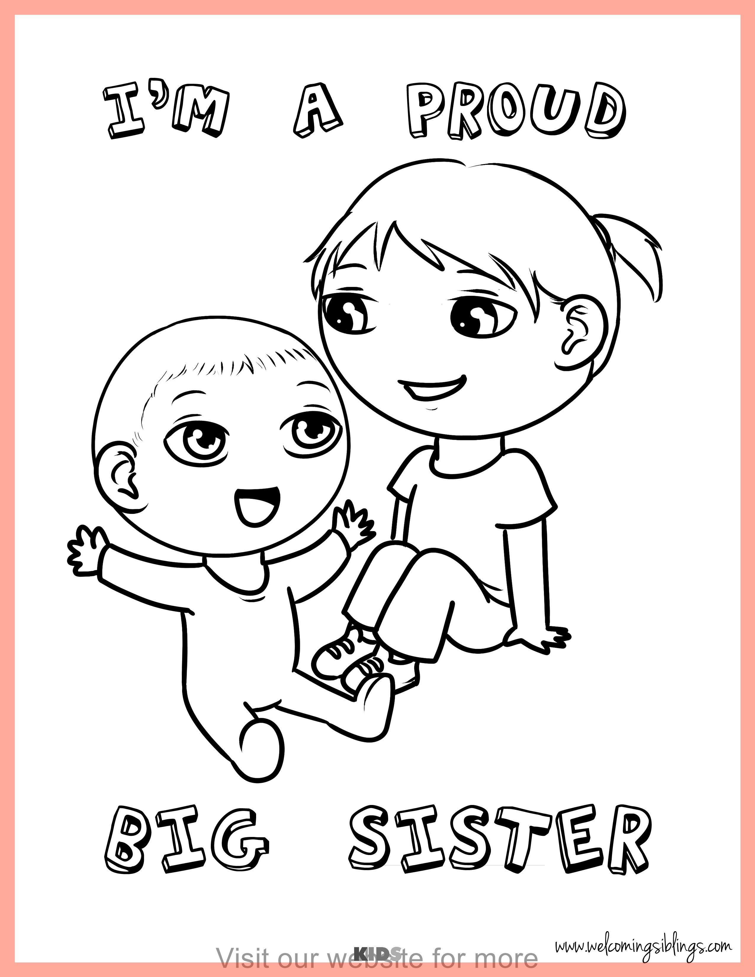 Craft For Kids Easy Spring Best Sisters Printable Big Brother Little Sister Big Sister Books