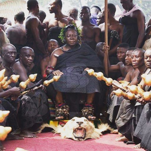 The Ashanti King Attending The Funeral Of The Late Ashanti