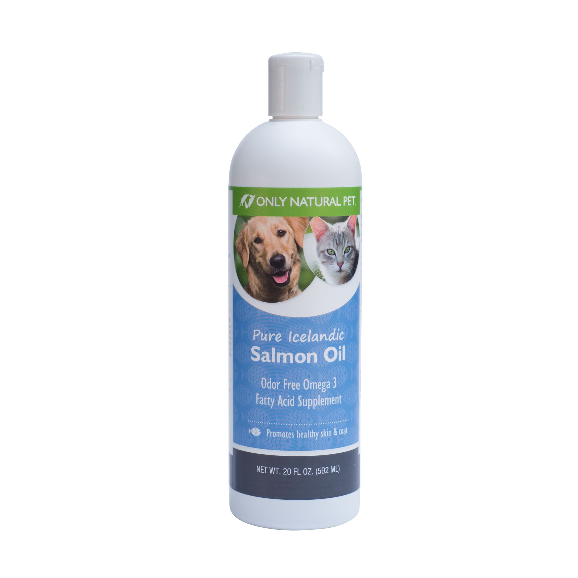Only Natural Pet Pure Icelandic Salmon Oil size 20 Fl Oz