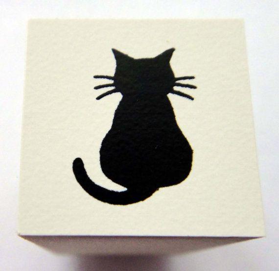 Cute Kitten / Cat Japanese Rubber Stamp