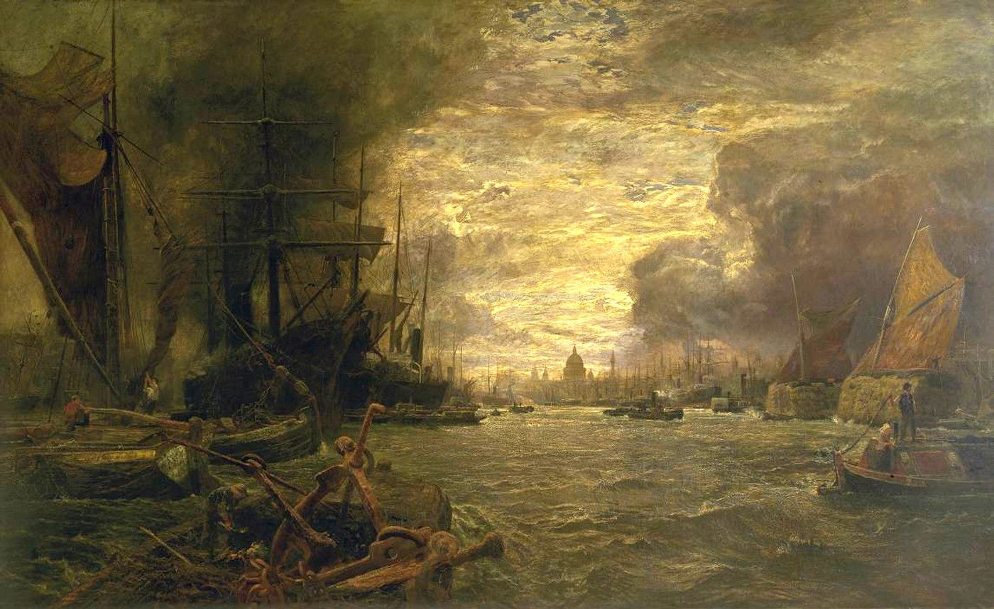 The Pool of London by Vicat Cole, 18331893