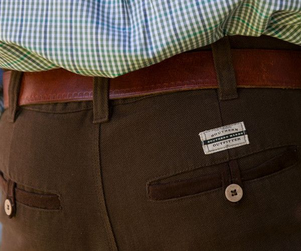 Southern Marsh Collection — The Ranch Canvas Pant from Southern Marsh - Flat Front