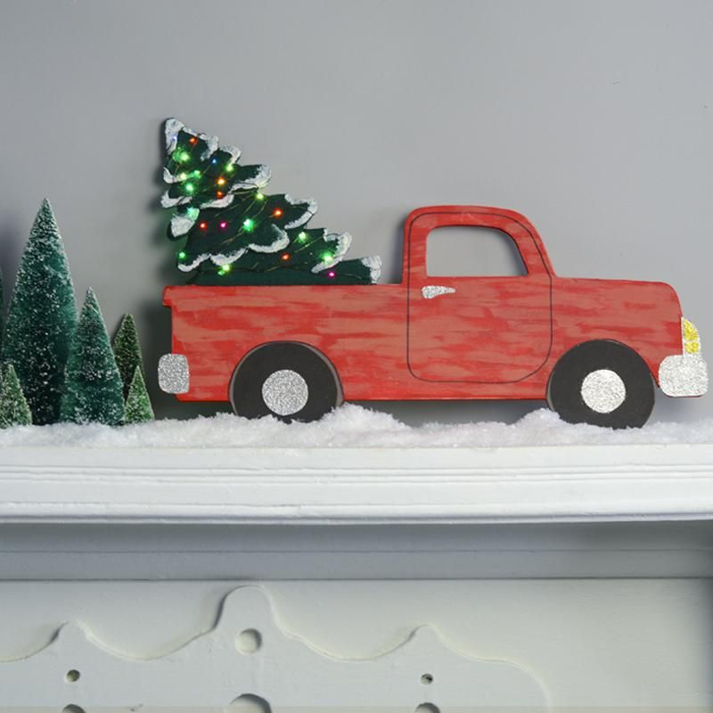 Wooden Christmas Tree Truck | A.C. Moore | Wooden ...