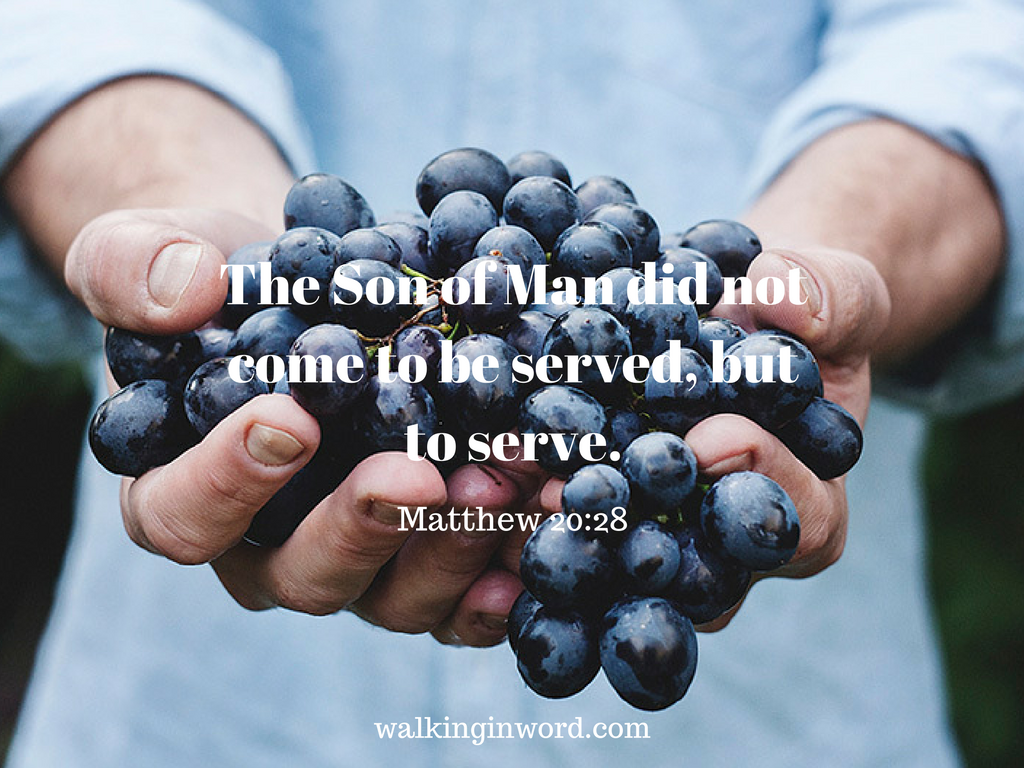 the Son of Man did not come to be served, but to serve- (Matthew 20-28) #write31days